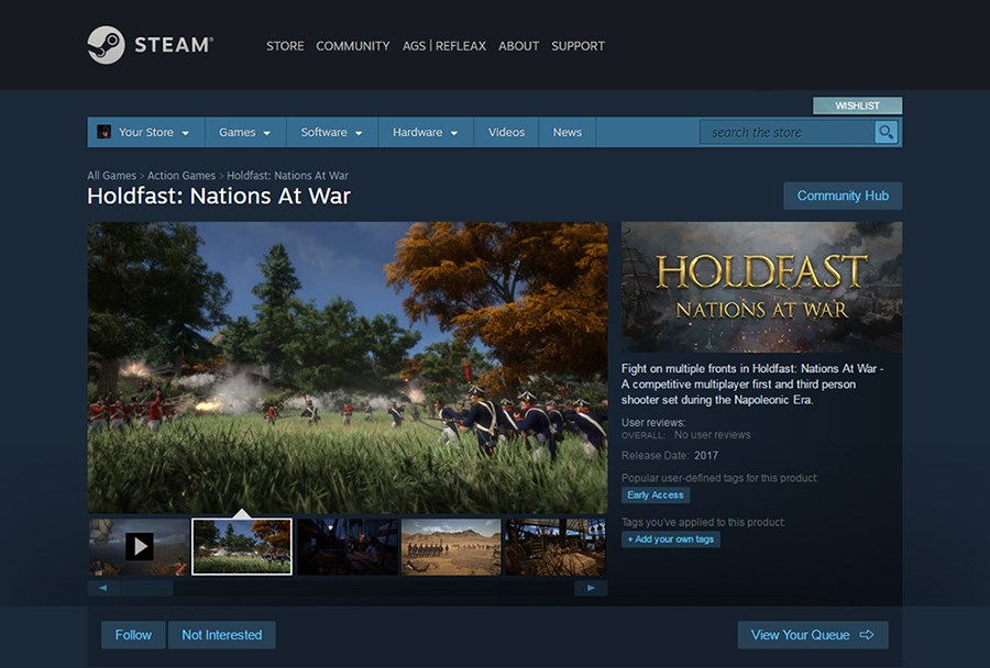 Holdfast NaW - Follow us on Steam!