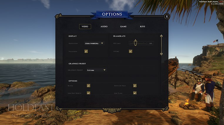 Holdfast NaW - Graphical Options 1